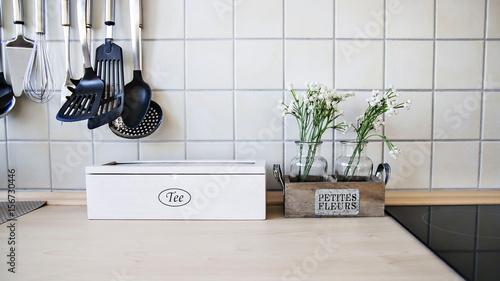 Tee Kochen In Weisser Heller Kucher Buy This Stock Photo And