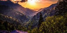 Great Smoky Mountain Sunset La...