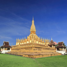 SE.corner-first Level Wall Of PhaThat Luang Gold-covered Stupa. Vientiane-Laos. 4855