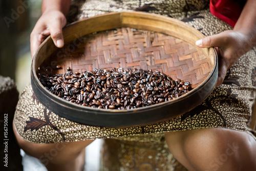 manual production of Kopi luwak coffee