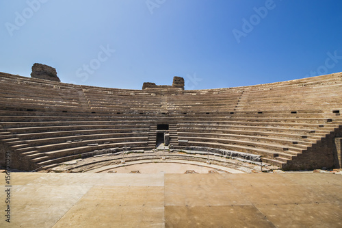 Photo  Greek theater, amphitheater of Nicopolis in Epirus, Greece