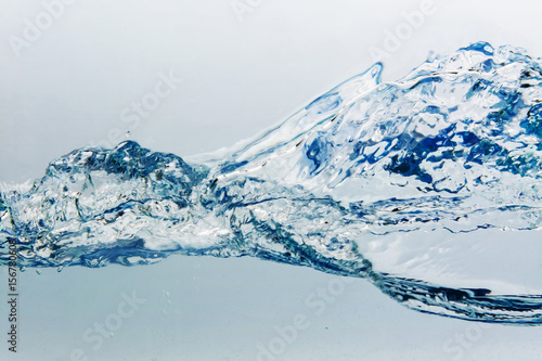 Fototapety, obrazy: Water splash with bubbles of air, isolated on the white background