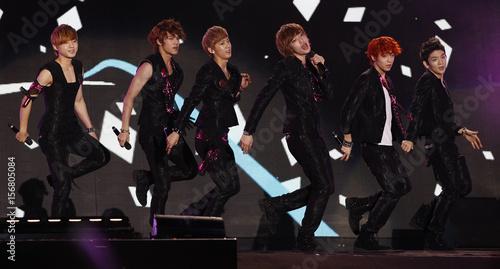 Members of South Korean boy-ba...