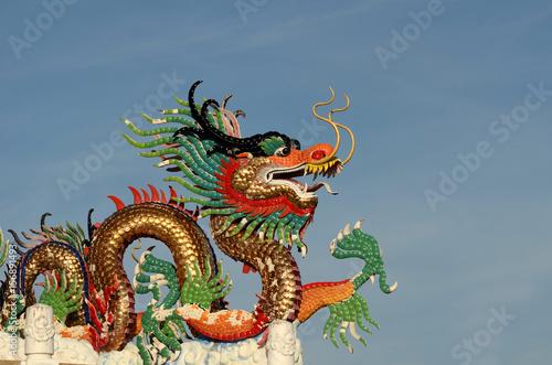 Chinese dragon image. Poster