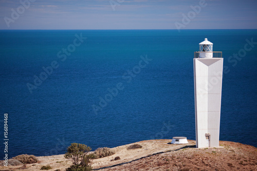 Foto auf AluDibond Leuchtturm Cape Jervis lighthouse against sea background. South Australia.