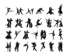 Dancer People Silhouette Colle...