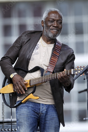 Musician Jacob Desvarieux From Music Band Kassav Performs Before A