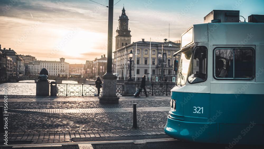 Fototapety, obrazy: Gothenburg City Sunset