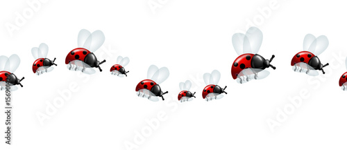Photo  Ladybugs decoration line