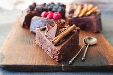 Close Up Of Chocolate Cake