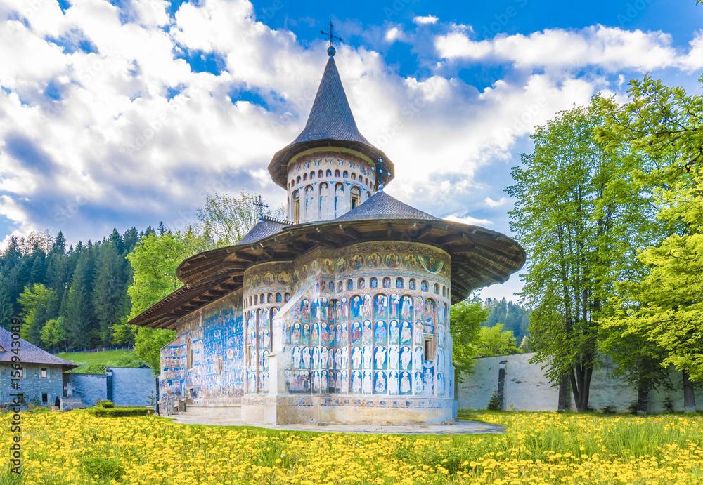 Fototapety, obrazy: Voronet orthodox painted church monastery Moldavia, Bucovina, Romania