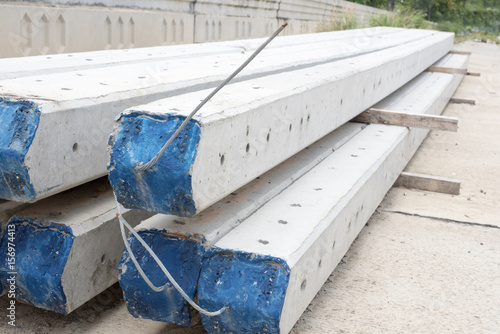 Electric Prestressed Concrete Pole - Buy this stock photo