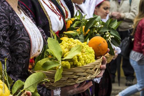 Photo  MURAVERA, ITALIA - APRILE 2, 2017:  45^ Sagra degli agrumi - dettaglio di un ces