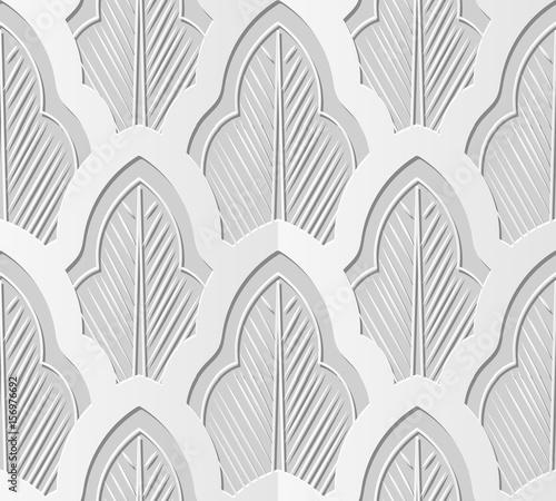 3d-papierowej-sztuki-orientalnej-botanicznej-krzywy-liscia-chintz