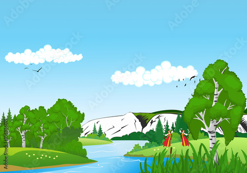 Foto op Canvas Lime groen natural scenery