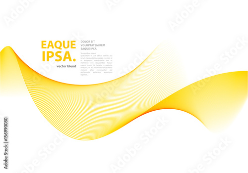 Photo Abstract vector wave template