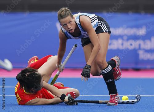 Argentina S Rocio Sanchez Moccia Challenges China S Ren During The