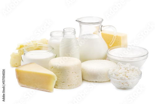 Fotomural Fresh dairy products