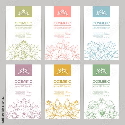 Fotografia  Vector set of templates packaging cosmetic