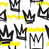 Fototapeta Młodzieżowe - Seamless pattern graffiti