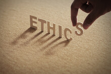 ETHICS Wood Word On Compressed...