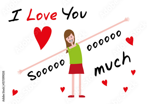 I Love You I Love You So Much Editable Vector Illustration Buy
