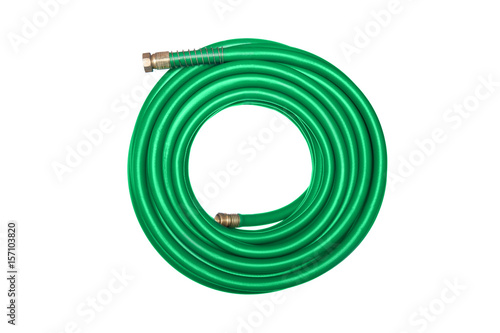 Fotografie, Obraz  Green hose isolated on white