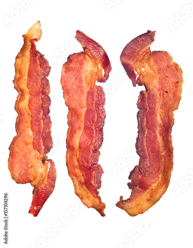 Cooked bacon strips Wallpaper Mural
