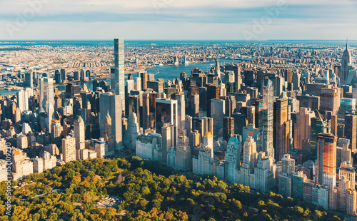 Canvas Print Aerial view of Central Park