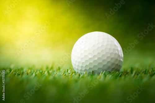 Deurstickers Golf golf ball on fairway