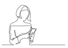 Teenage Girl Reading Smartphon...