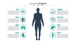 Vector medical and healthcare infographic.