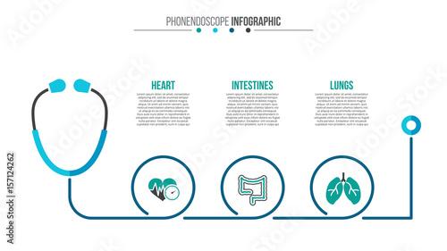 Fotografía  Vector medical and healthcare infographic.