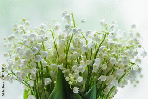 Poster Muguet de mai Lily of the valley bouquet with a letter