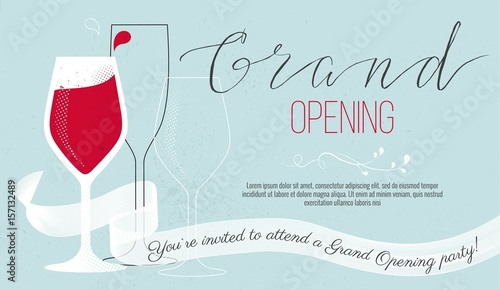 Cute invitation card you are invited to a ribbon cutting ceremony cute invitation card you are invited to a ribbon cutting ceremony grand opening concept stopboris Image collections