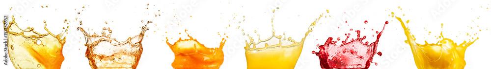 Fototapety, obrazy: fruit juice splash collection isolated on white