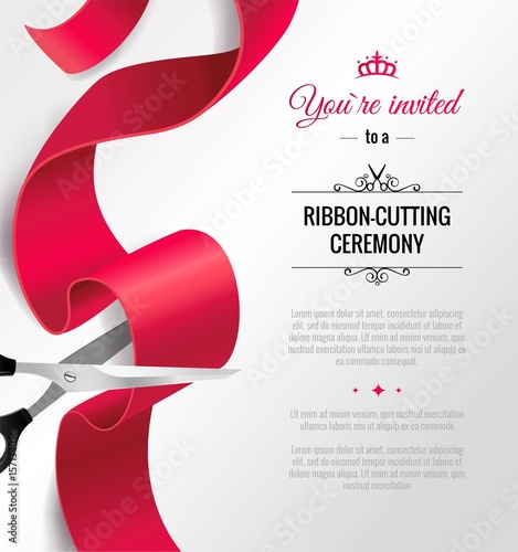 You are invited invitation card with curving ribbon and copy space you are invited invitation card with curving ribbon and copy space grand opening concept stopboris Image collections
