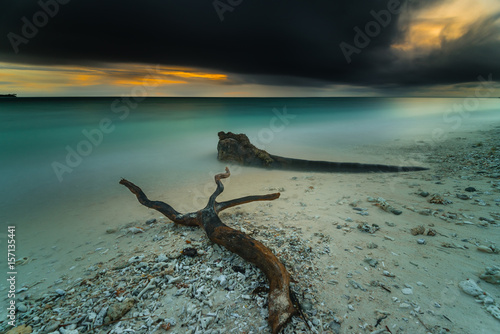 In de dag Zwart beautiful landscape in Mentawai island