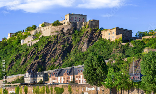 Fototapeta Festung Ehrenbreitstein Koblenz Rhein