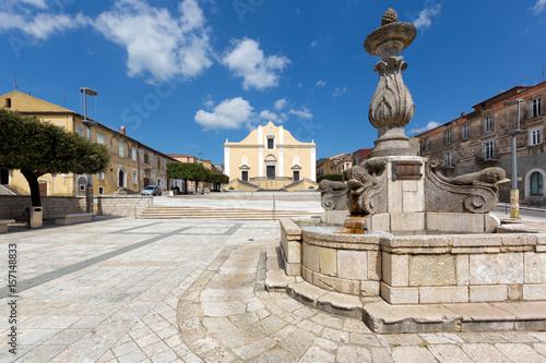Photo Cerreto Sannita (Benevento, Italy) - Collegiata San Martino and Delfini Fountain