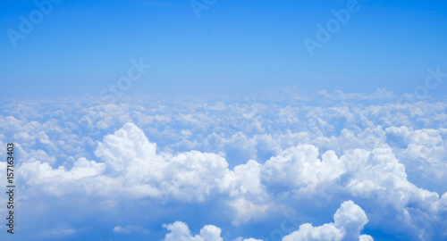 Blue sky above the clouds - 157163403