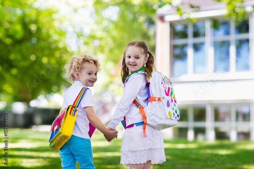 Fotografija  Children going back to school, year start