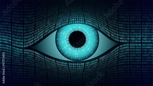 Fotografie, Obraz  Big brother electronic eye concept, technologies for the global surveillance, se