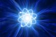 Leinwandbild Motiv Atom with energy rays