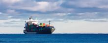 Grey Container Ship