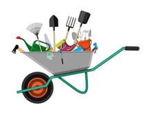 Gardening Tools Set. Equipment...