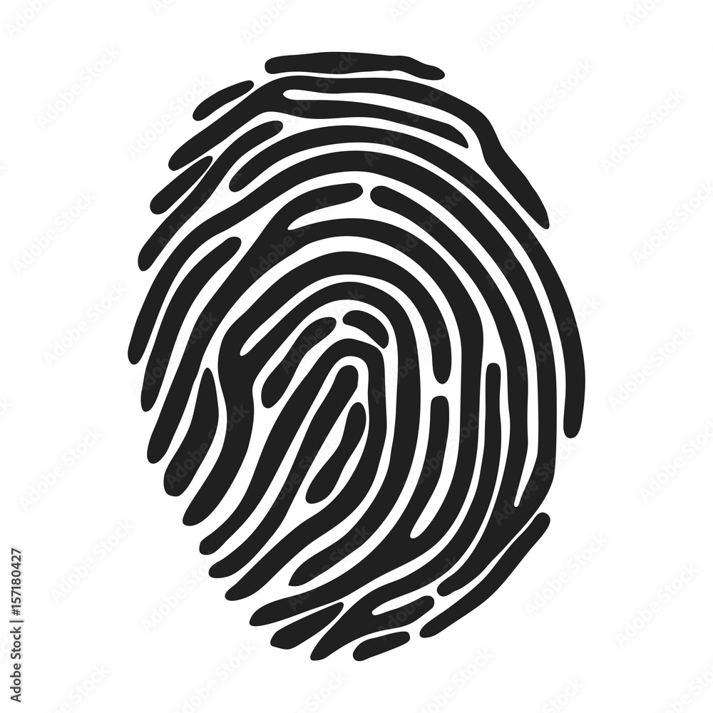 Fototapeta fingerprint icon over white background. vector illustration