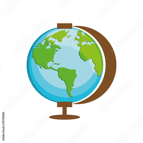 Fotografia  geography tool icon over white background. vector illustration