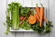 Carrot And Celery Juice With F...