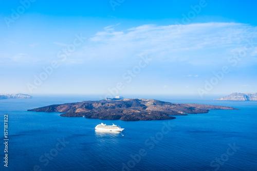 Foto auf Leinwand Santorini Santorini volcano caldera, Greece